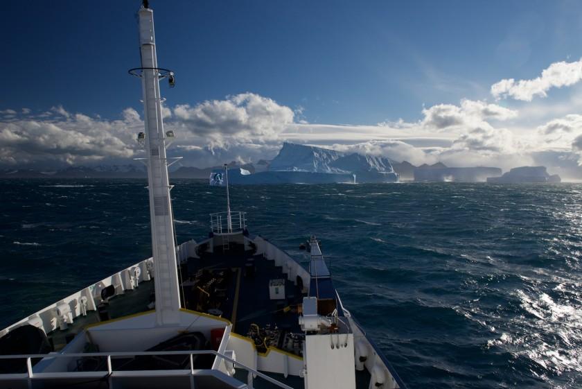 Auf See – Richtung Antarktis