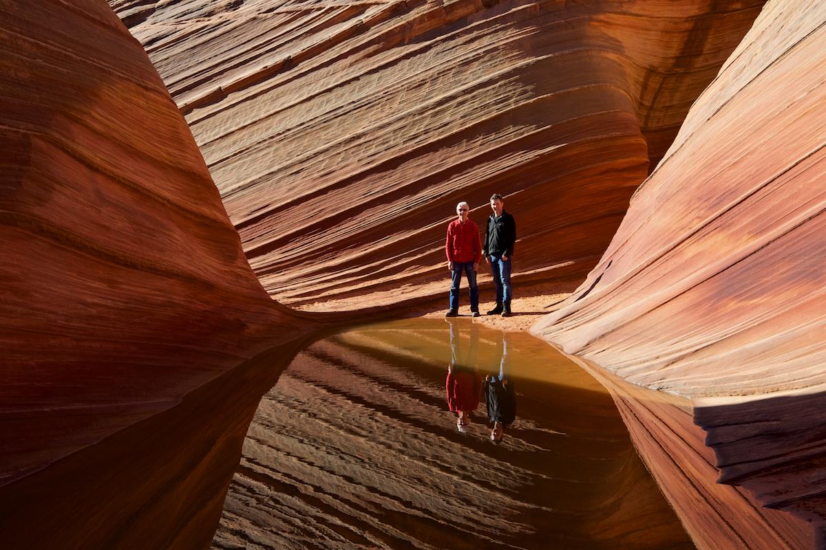 Wind und Wasser haben die eindrücklichen Wellen im rund 200 Millionen Jahre alten Navajo Sandstein geformt.