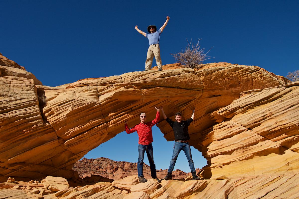 Unser Guide, David Swindler, hat auch auf dem «Top Rock Arch» klar das Sagen.